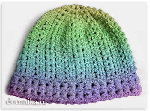 вязание шапки крючком для женщин