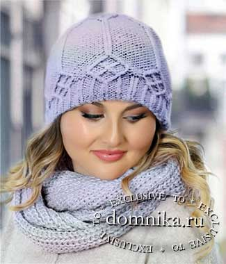Вязаная шапка для круглого лица