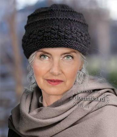Вяжем шапку для пожилых женщин