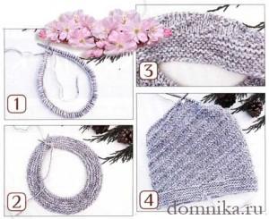 мастеркласс вязание шапки спицами фото