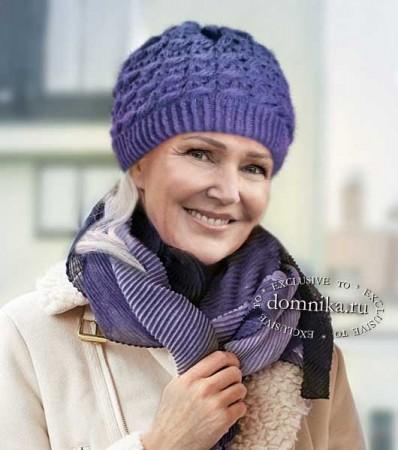 вязаные шапки для пожилых женщин