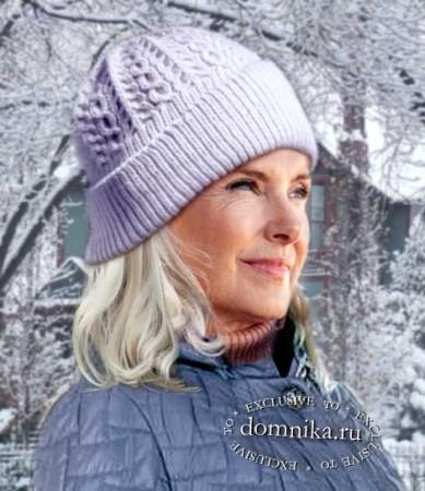 вязание зимней шапки спицами 2020 год