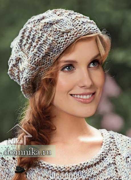 женская шапка спицами фото картинки