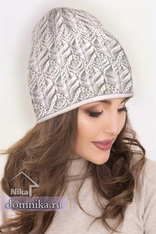 вязание шапок спицами I 2 модели женских шапок с узорами косы
