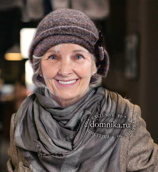Стильная шляпка для пожилых женщин