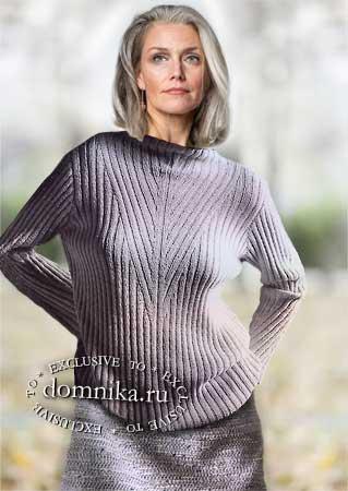 свитер для пожилых женщин 60 лет