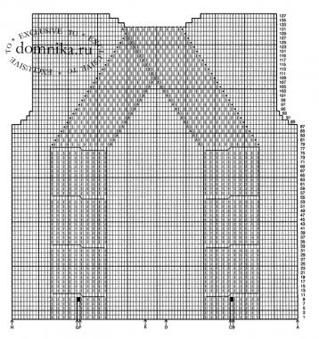 Модный вязаный свитер с косами схема спицами