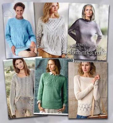 свитер спицами большая подборка
