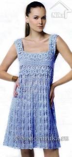 Ажурное летнее платье крючком