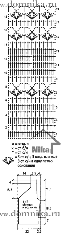 Вязанный крючком жилет для женщин со схемами