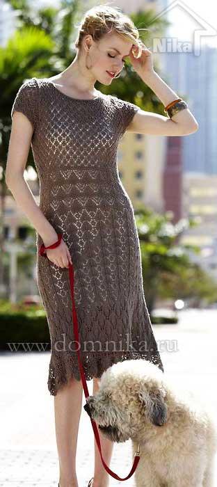 Платье в стиле бохо крючком