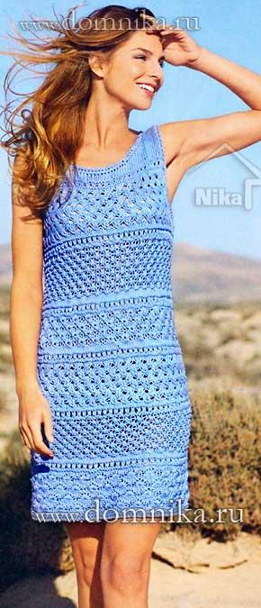 Оригинальные платья крючком 36