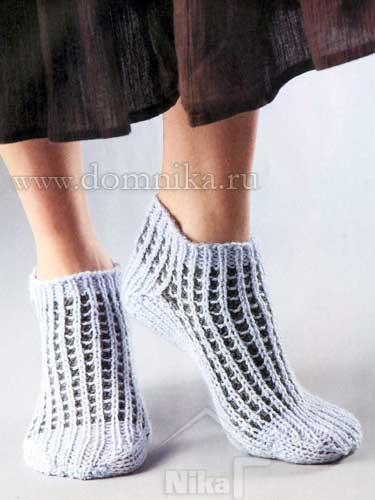 Короткие вязаные носки