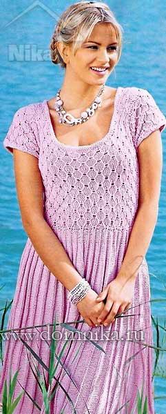 вязание спицами платья для женщин на лето схемы
