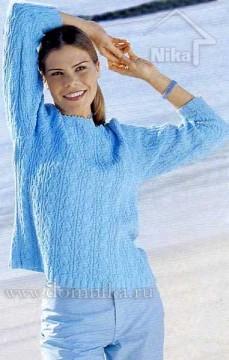 вязаный пуловер для женщин