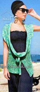 Оригинальный жилет спицами для женщин