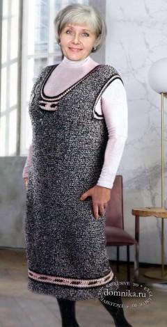 Сарафан 52 размера для дам пожилого возраста - вязание спицами