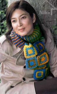 шарф спицами для женщин