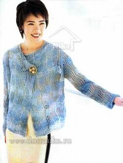 схемы вязания женского жакета на спицах