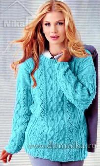 Женский свитер спицами