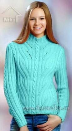Вязание спицами женского свитера
