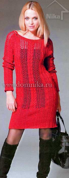 Как связать спицами реглан на платье