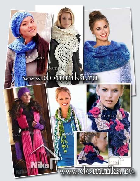 Вязаные шарфы - модные модели 2017 года