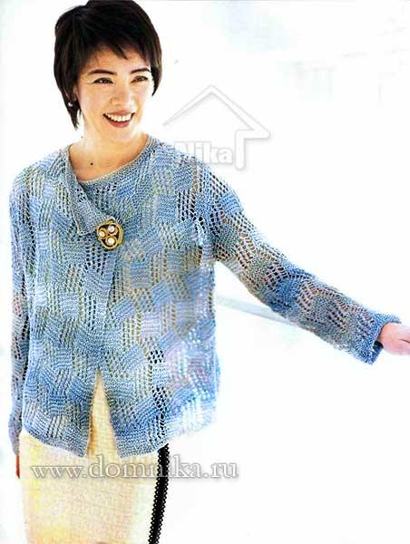 Вязание на спицах джемпер для девушки 632