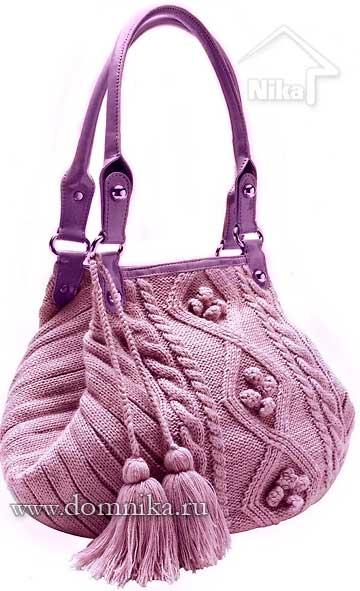 стильные вязаные сумки для женщин