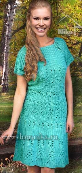 Красивый узор для платья спицами схемы