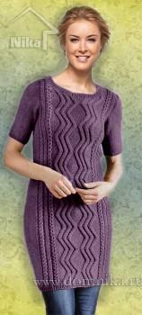 Вяжем спицами платье для полных женщин