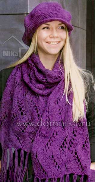 Вязание шарфа спицами схемы фото 19-318