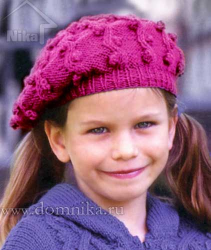 Детская шапочка с шишечками