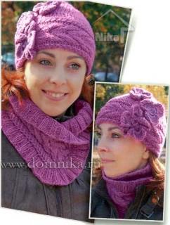 Вязание спицами шапки и шарфа