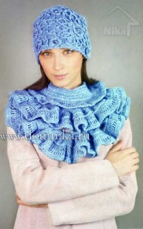 Вязаная шапка и шарф со схемами