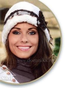 Женские вязаные шапки с кружевом