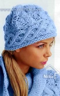 Женские вязаные шапки зима