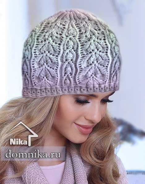 модные модели шапок спицами I женские шапки на весну 2019