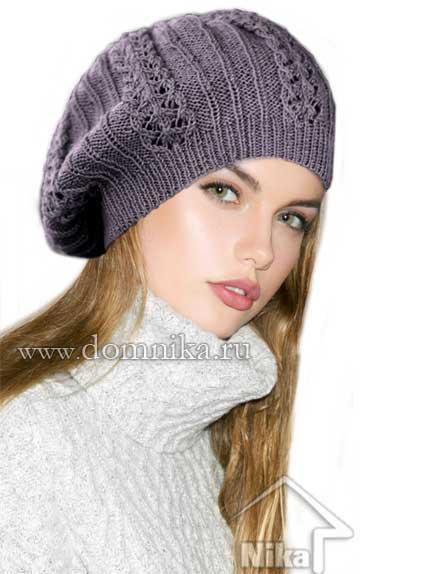 Вязаные шапки модели и описание вязания