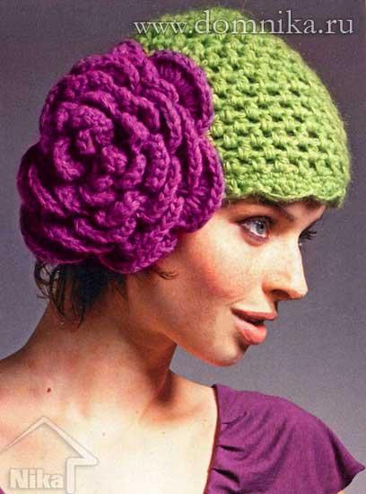 вязание из плюшевая пряжа схемы шапок