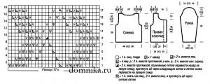 korotkij-vjazanyj-zhaket-shema-vykrojka