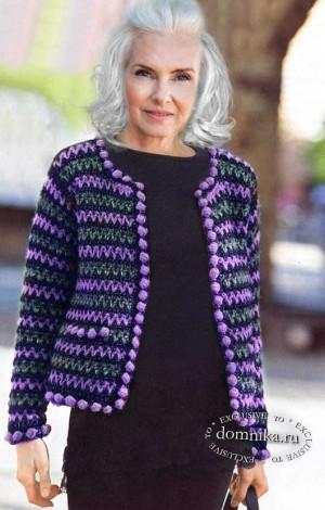Жакет Шанель для дам пожилого возраста