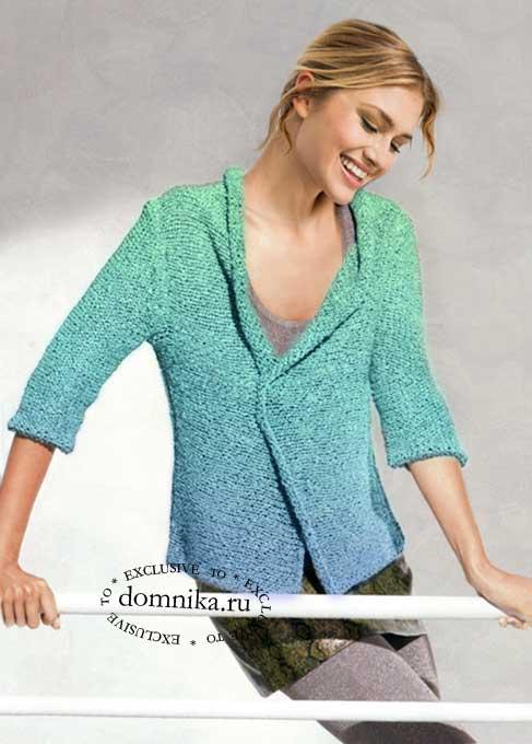 Вязание спицами 5 стильных жакетов для полных женщин