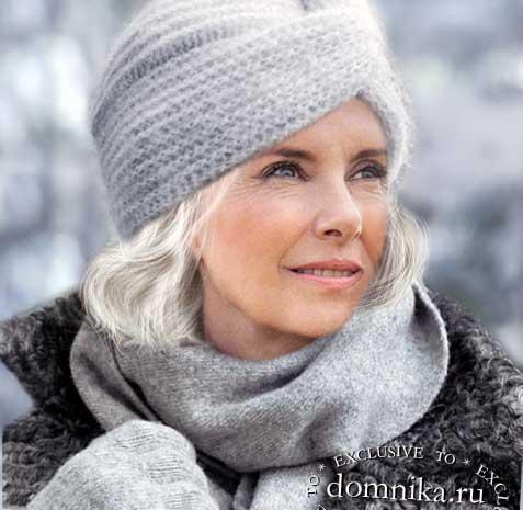 Модные шапки и береты для женщин старше 50 лет