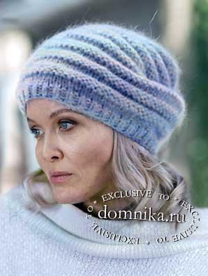 Стильные вязаные шапки для женщин 60 лет