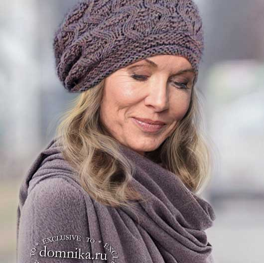 Стильная шапка на зиму для женщин 60 лет