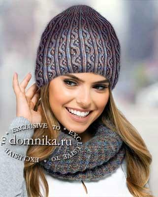Шапочки и береты для женщин схемы вязания