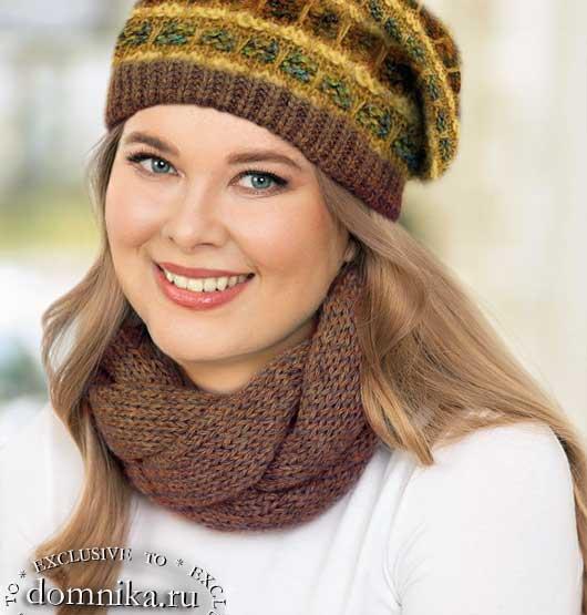 Вяжем стильные шапки и береты для круглого лица