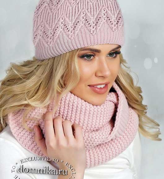 Схема вязания женской шапки