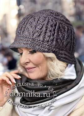 Стильные вязаные шляпки спицами для женщин